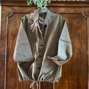 Tavik army green embroidered drawstring jacket